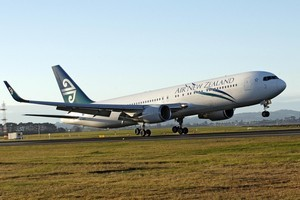 An Air NZ Boeing 767 with fuel-saving winglets fitted. Photo / Supplied